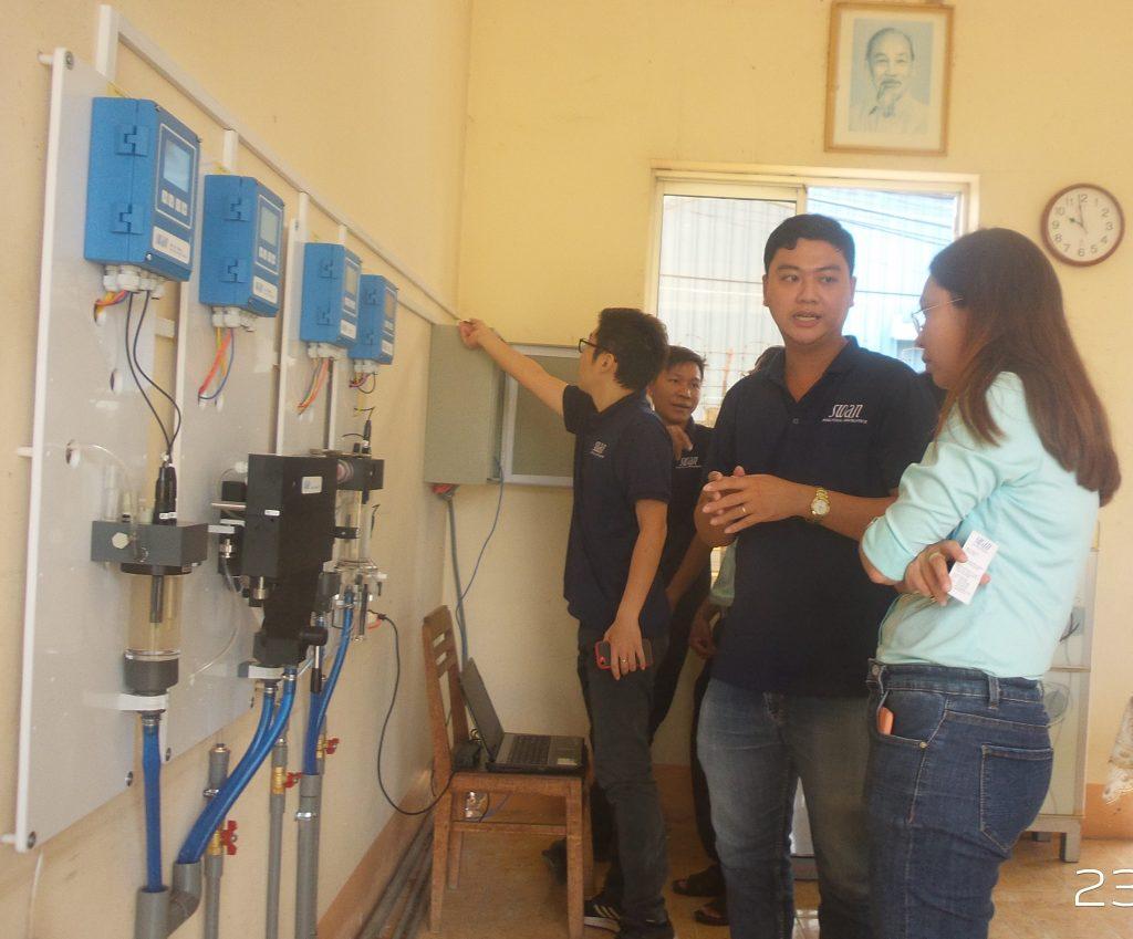 Quan trắc nước sạch tại nhà máy nước Bình Đức